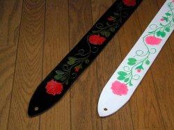 画像2: バラの花柄ストラップ(全面カービングタイプ)