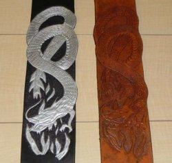 画像1: 龍の柄のストラップ