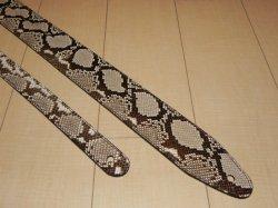 画像1: ランディー・ローズ使用タイプ パイソン本革ストラップ スタンダード 縫い合わせタイプ