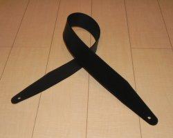 画像1: 長さ固定1枚革Basicカスタムストラップ  センターシフト端部仕様  ブラック色