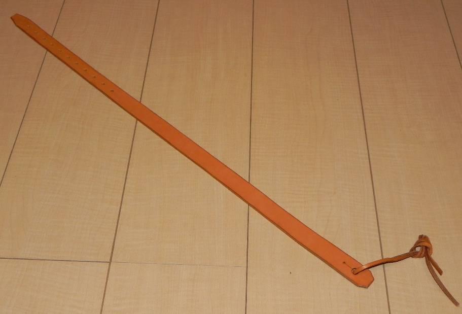 画像1: アコギ用システムストラップ フロント部(先端部)革ヒモ装着タイプ